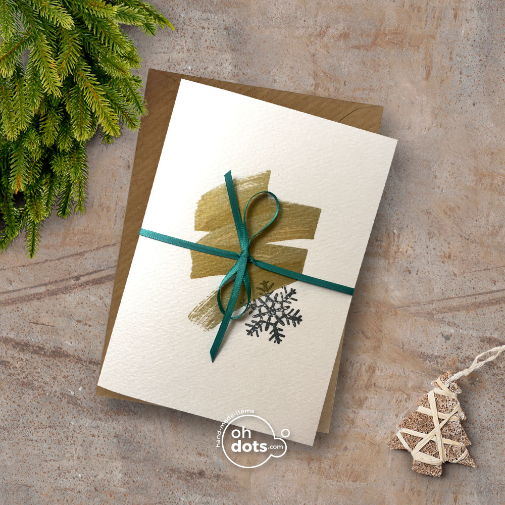 Gold Christmas Card